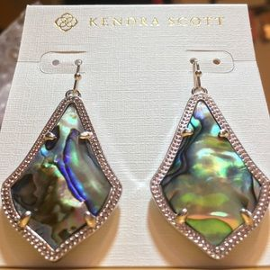 Kendra Scott NEW 2018🖤 shimmer Abalone rhodium